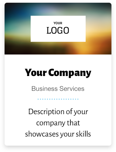 An example business card