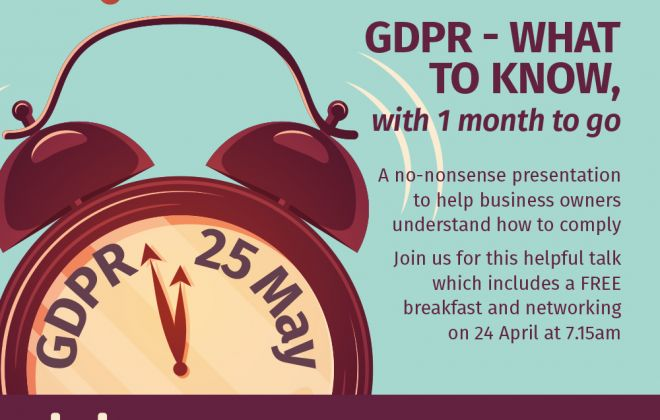 GDPR - What to know with 1 month to go