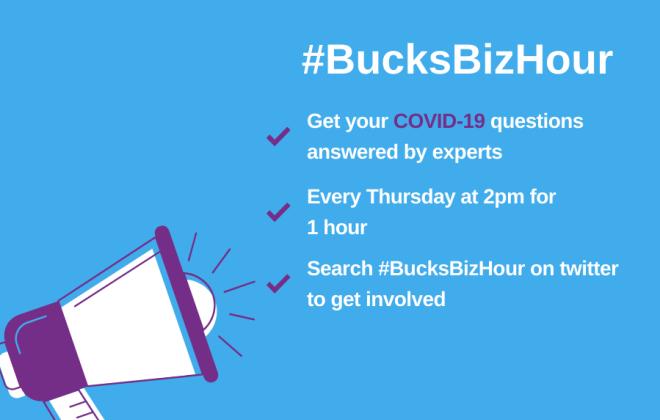 #BucksBizHour - Covid-19 Twitter Q&A - 9 April