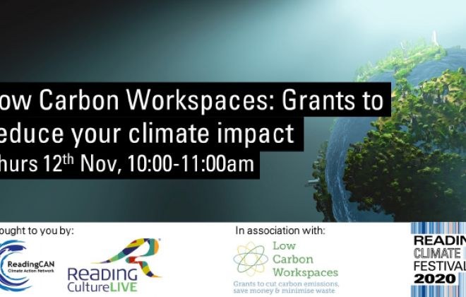 Low Carbon Workspaces: Grants to reduce your climate impacts