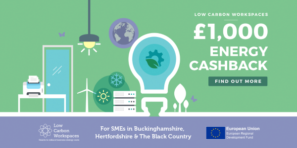 £1,000 Energy Cashback with Low Carbon Workspaces